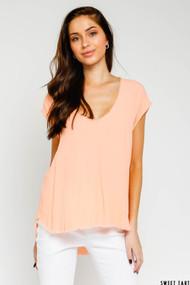 The Bethany Shirt- Sweet Tart Orange