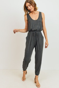 The Cody Jumpsuit- Charcoal