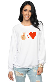 Peace & Love Sweatshirt