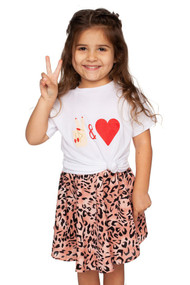 Little Girls Peace & Love Tee
