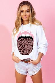 The Pink Leopard Lip Sweatshirt