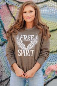 Free Spirit Sweatshirt- Olive