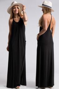 The Olivia Maxi- Black