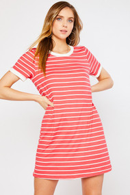 The Alexia Dress- Coral