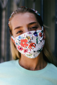 Floral White Mask