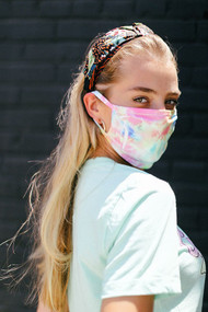 Cotton Candy Tye Dye Mask
