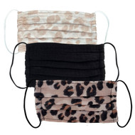 3 Piece Mask Set- Leopard
