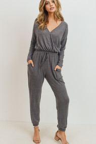 The Dempsy Jumpsuit- Charcoal