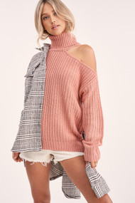 The Hartford Sweater- Blush