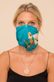 The Bandana Face Mask- Teal