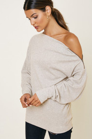 The Claire Top- Oatmeal