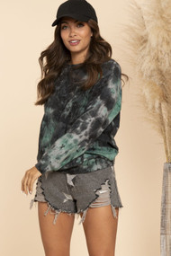 The Cameron Sweatshirt- Black & Hunter Green
