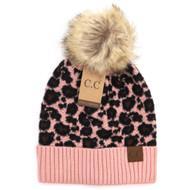 C.C. Leopard Beanie-Blush