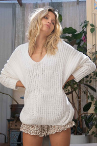 The Jules Sweater- Ivory