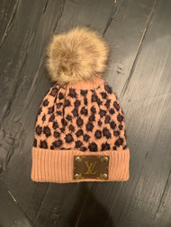 LV Re-Purposed Patch Beanie-Leopard