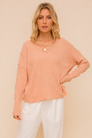 The Lucy Sweater- Coral