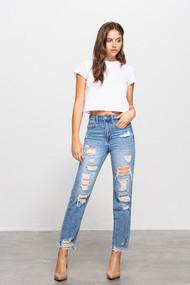 The Erin High Waisted Mom Jeans
