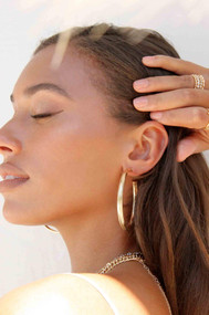 Ettika Your Essential 18k Gold Plated Hoop Earrings