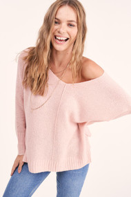 The Stella Sweater- Baby Pink