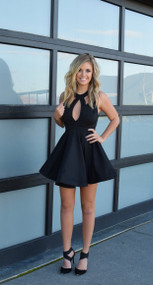 Reverse Black Twirl Dress