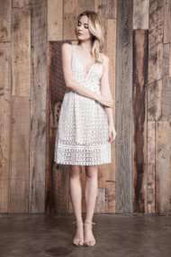 J.O.A Crochet White Lace Dress