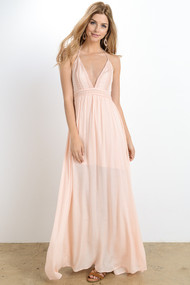 The Victoria Maxi Dress- Peach