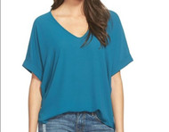 The Charlotte Vivid Blue V Neck Top