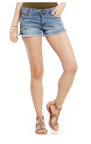 STS Boyfriend Frayed Denim Shorts