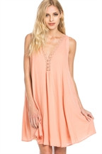 The Isla Peach Dress