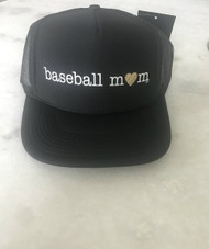 Mother Trucker- Baseball Mom Blk/Gold