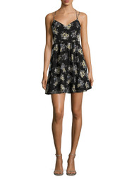 Lucca Couture Floral  Strappy Back Dress