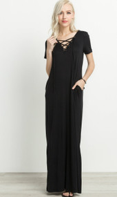 The Jacey Maxi Dress- Black