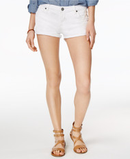 STS Denim White Boyfriend Shorts