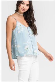 The Hannah Aqua Floral Top
