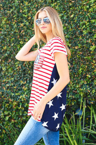 Red, White and Blue Tee
