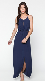 The Pearl Dress- Navy