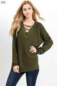 The Maize Sweater- Olive