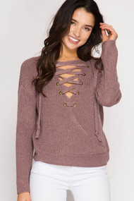 The Elsie Sweater- Rose Mocha