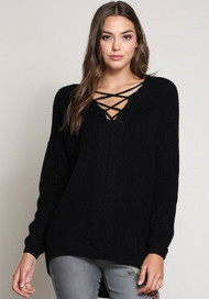 The Tristan Sweater- Black