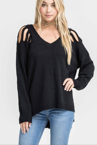 The Emily Sweater- Black