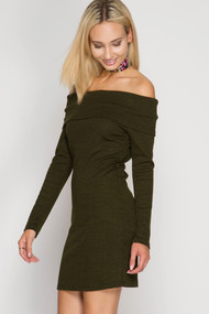 The Kinsley Dress- Olive