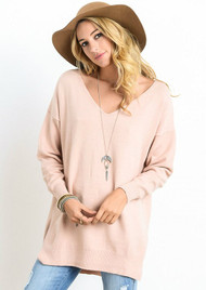 The Lucca Sweater-Apricot