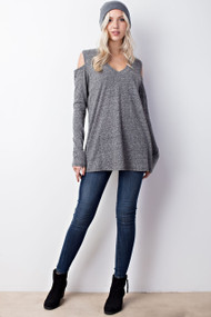 The Mila Top-  Grey