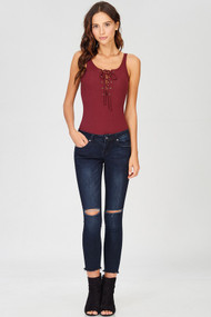 The Quinn BodySuit- Burgundy