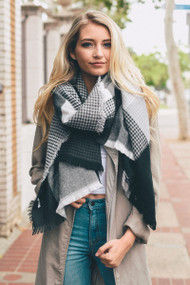 The Lucia Scarf- Black & Grey