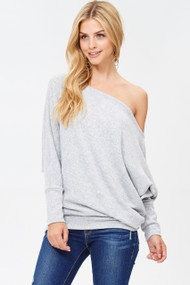 The Naomi Top- Grey