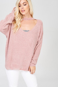 The Hayden Sweater- Twig Pink