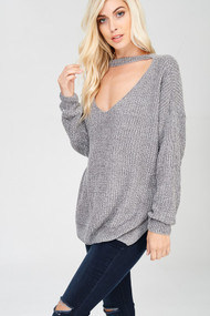 The Hayden Sweater- Silver