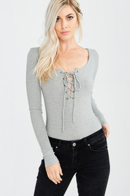 The Reagan Bodysuit- Grey