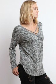 The Ivy Top- Grey